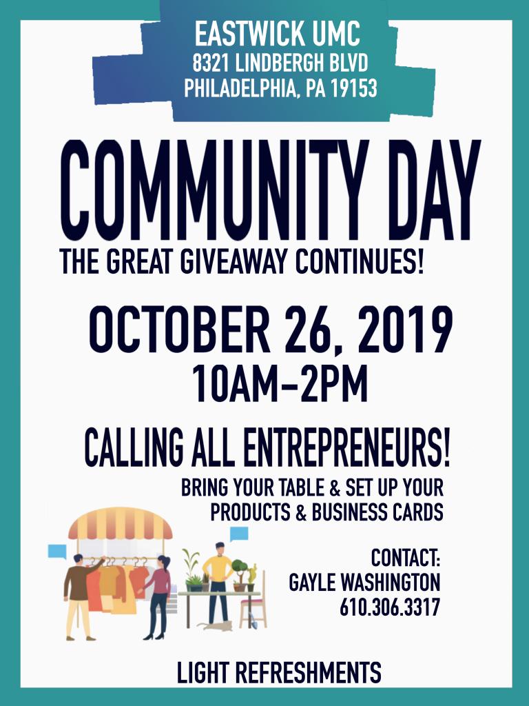 Community Day 10-26-19
